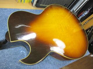 Gibson ES-775、ナインス、リペア、修理、東京、杉並、高円寺、裏板