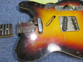 Fender Telecaster Custom、1960年製、ナインス、杉並、高円寺、東京、修理、リペア、ネック