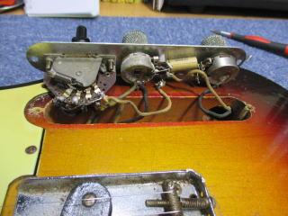 Fender Telecaster Custom、1960年製、ナインス、杉並、高円寺、東京、修理、リペア、配線